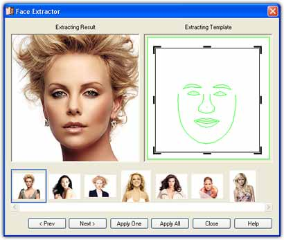 Using Face Extractor