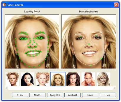 Using Face Locator