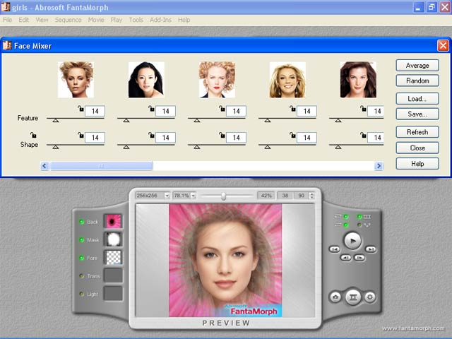 Click to view Abrosoft FantaMorph Deluxe screenshots